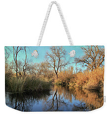 Weekender Tote Bag featuring the photograph As We Taked About The Year by Laurie Search