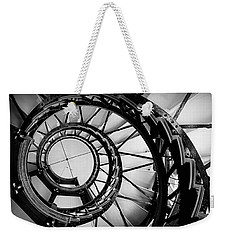 Ascend - Black And White Weekender Tote Bag