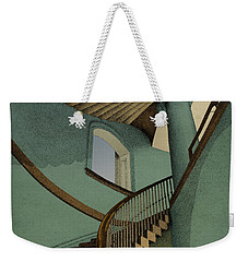 Weekender Tote Bag featuring the drawing Ascending by Meg Shearer
