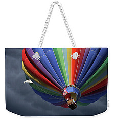 Weekender Tote Bag featuring the photograph Ascending To The Storm by Marie Leslie