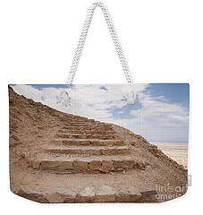 Weekender Tote Bag featuring the photograph Stairway To Heaven - Masada, Judean Desert, Israel by Yoel Koskas