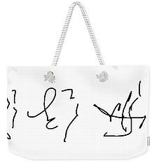 Asemic Writing 02 Weekender Tote Bag