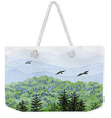 Asheville Blues Weekender Tote Bag by Anne Marie Brown