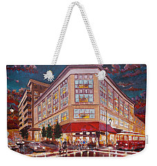 Asheville Cityscape At Battery Park Haywood Park Hotel Weekender Tote Bag