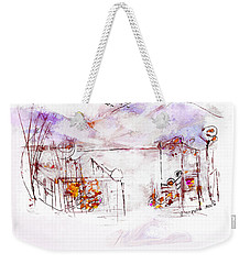 Asheville Mountains Old Friends And A Garden Bench   Weekender Tote Bag
