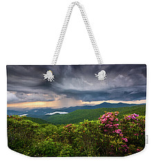 Asheville North Carolina Blue Ridge Parkway Thunderstorm Scenic Mountains Landscape Photography Weekender Tote Bag