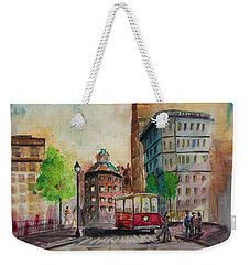 Asheville North Carolina Cityscape Weekender Tote Bag