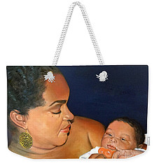 Weekender Tote Bag featuring the painting Ashli And Middleton by Marlene Book
