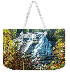 Weekender Tote Bag featuring the photograph Ashville Area Waterfall by Richard Goldman