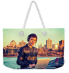 Asian American College Student Traveling, Studying In New York Weekender Tote Bag