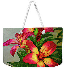 Asian Lilly Spring Time Weekender Tote Bag