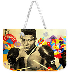 Asian Woman By Mohamed Ali In Brooklyn New York Weekender Tote Bag by Funkpix Photo Hunter