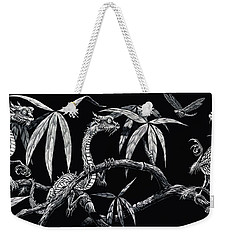 Weekender Tote Bag featuring the drawing Asian Wonders by Stanley Morrison