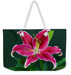 Oriental  Lily Aka Stargazer Weekender Tote Bag