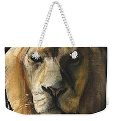 Asiatic Lion Weekender Tote Bag by Mark Adlington