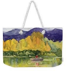 Weekender Tote Bag featuring the painting Aspen Afternoon by Kris Parins