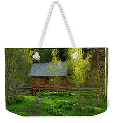 Weekender Tote Bag featuring the photograph Aspen Cabin by Leland D Howard