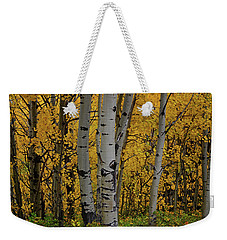 Aspen Golden Weekender Tote Bag