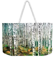 Aspen-green-blue Weekender Tote Bag