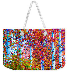 Aspen Grove In Summer Weekender Tote Bag by Ann Johndro-Collins