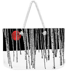 Weekender Tote Bag featuring the photograph Aspen Grove Winter by Juli Scalzi