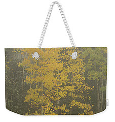Aspen In The Fog Weekender Tote Bag