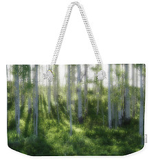 Weekender Tote Bag featuring the photograph Aspen Morning 2 by Marie Leslie