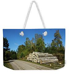 Weekender Tote Bag featuring the photograph Aspen Timber by Kennerth and Birgitta Kullman