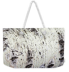 Weekender Tote Bag featuring the photograph Aspen Tree Bark by Christina Rollo