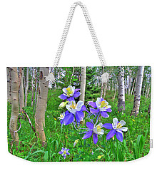 Aspens And Columbines Weekender Tote Bag by Scott Mahon