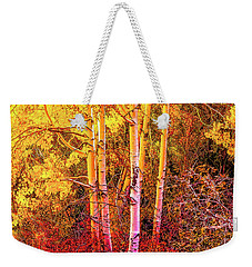 Weekender Tote Bag featuring the photograph Aspens In Autumn-2 by Nancy Marie Ricketts
