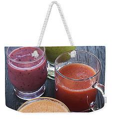 Assorted Smoothies Weekender Tote Bag by Elena Elisseeva