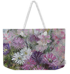 Asters And Stocks Weekender Tote Bag