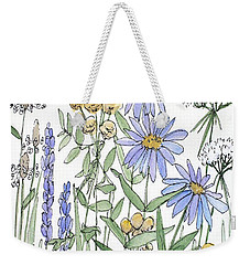 Asters And Wildflowers Weekender Tote Bag