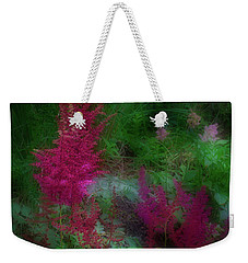Astilbe In The Garden Weekender Tote Bag