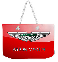 Aston Martin - 3 D Badge On Red Weekender Tote Bag
