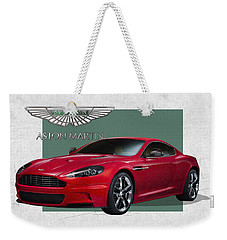 Aston Martin  D B S  V 12  With 3 D Badge  Weekender Tote Bag