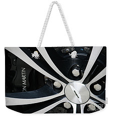 Weekender Tote Bag featuring the photograph Aston Martin Detail by Mary-Lee Sanders