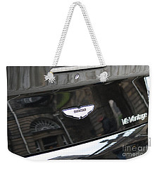 Weekender Tote Bag featuring the photograph Aston Martin V12 Vantage by Mary-Lee Sanders
