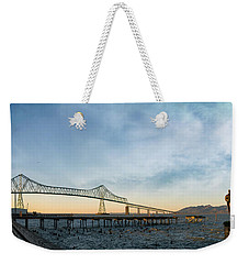 Astoria Megler Bridge By Riverwalk Panorama Weekender Tote Bag