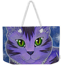 Astra Celestial Moon Cat Weekender Tote Bag