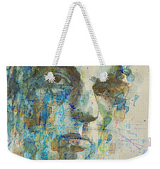 Weekender Tote Bag featuring the mixed media Astral Weeks by Paul Lovering