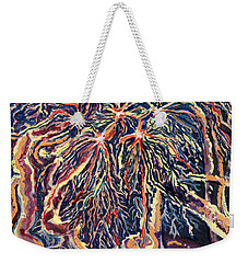 Astrocytes Microbiology Landscapes Series Weekender Tote Bag by Emily McLaughlin