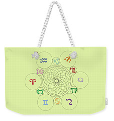 Astrological Sacred Geometry Image Weekender Tote Bag
