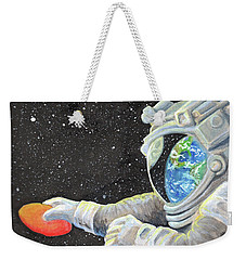 Astronaut Disc Golf Weekender Tote Bag