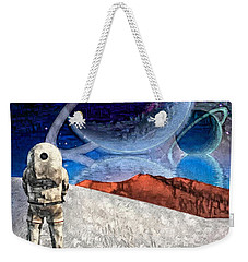 Astronaut On Exosolar Planet Weekender Tote Bag