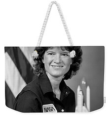 Astronaut Sally Ride  Weekender Tote Bag by War Is Hell Store