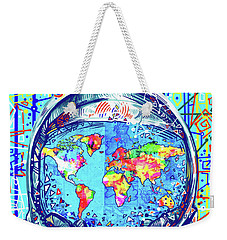 Astronaut World Map 2 Weekender Tote Bag by Bekim Art
