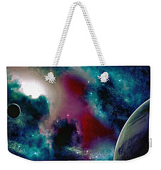 Astronomy Painting Glammed Out Teal Weekender Tote Bag
