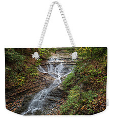 Weekender Tote Bag featuring the photograph At Bridal Veil Falls by Dale Kincaid